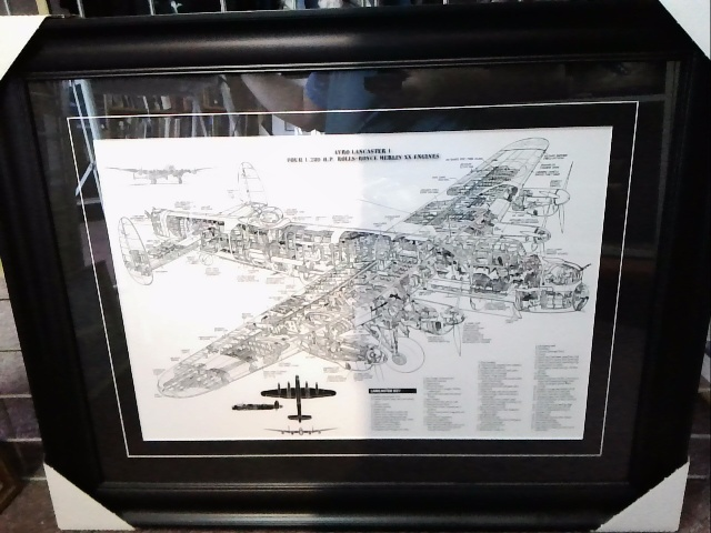 Lancaster blueprint framed