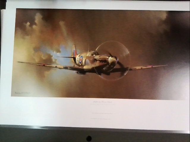 Spitfire - print by Barrie Clark - Large