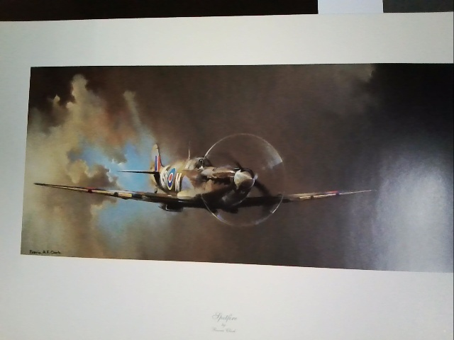 Spitfire poster - by Barrie Clark
