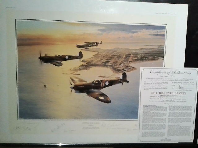 Spitfires Over Darwin - by Rober Taylor